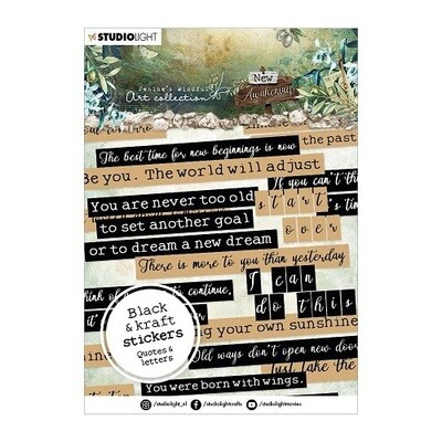 Studio Light - Jenine's Mindful Art - Awakening Sticker Pad - Quotes & Letters - 20 Sheets