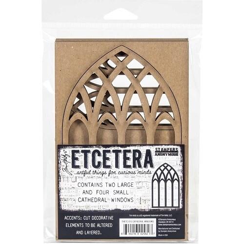 Tim Holtz - Etcetera Chipboard - Cathedral Windows