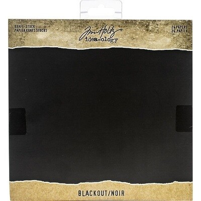 "Tim Holtz - Idea-ology - Blackout - 8"" x 8"" - Paper Pad - TH94020"