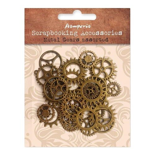 Stamperia - Metal Gears - Brass Assorted - Approx. 30 pcs