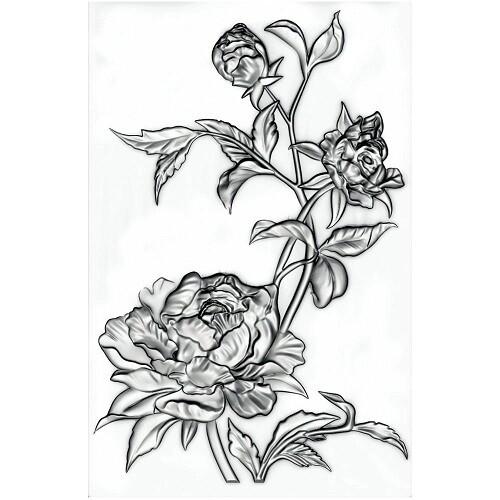 Sizzix - By Tim Holtz Texture Fade - Mini Embossing Folder - Mini Rose