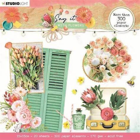 Studio Light - Elements - Say It With Flowers - 300 pieces