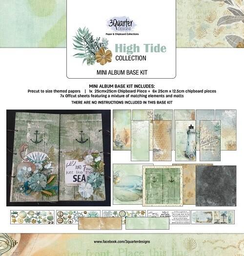 "3 Quarter Designs - 6"" x 8""  High Tide Collection - Mini Album Base Kit"