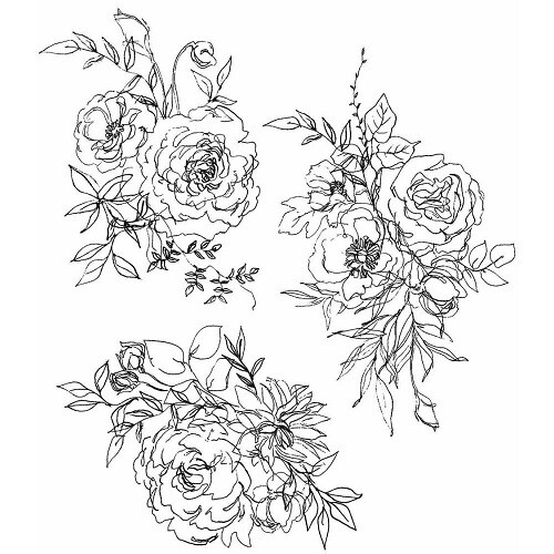 Stampers Anonymous - Tim Holtz Designs - Floral Outlines - CMS430