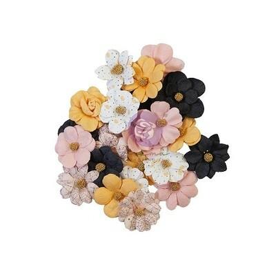 Prima Marketing - 31 - All The Treats -  Paper Flowers - 12 pcs