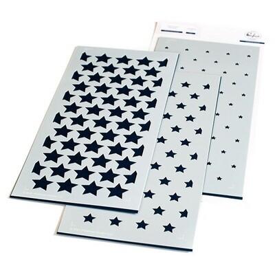 PinkFresh Studios - Slimline - Star Builder 123321 - Layered Stencil 3 pieces