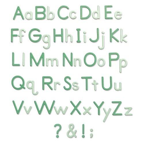 Sizzix - Thinlits - Essential Type Alpha Dies - designed by Lisa Jones - 665335