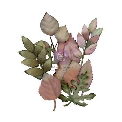 Prima Marketing Mulberry Paper Flowers - Hello Pink Autumn - Autumn Foliage - 12 pcs - 655099