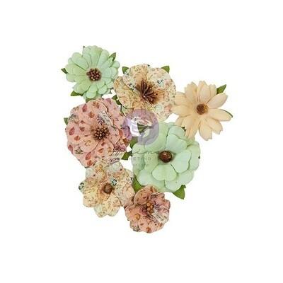 Prima Marketing Mulberry Paper Flowers - Hello Pink Autumn - Warm Mittens - 7 pcs - 655105