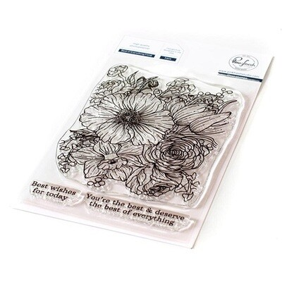 """PinkFresh Studios - Clear Stamp - Best of Everything Floral - 4"""" x 6"""" - 121721"""