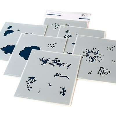 PinkFresh Studios - Best of Everything Floral - Layered Stencils - 121821 - 6 pieces
