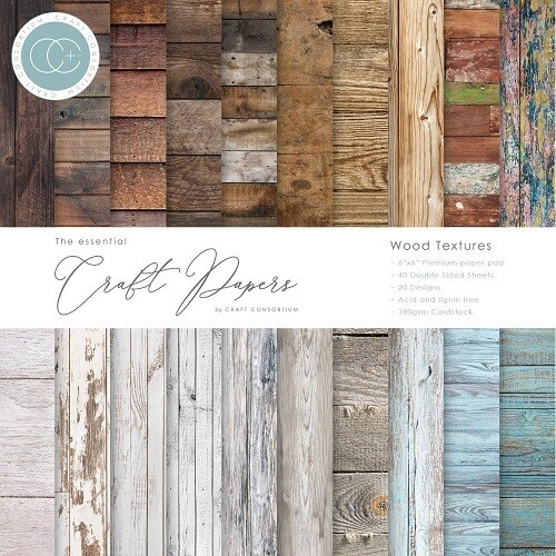 "Craft Consortium - 6"" x 6"" Scrap Pad - Wood Textures - CPAD001B"