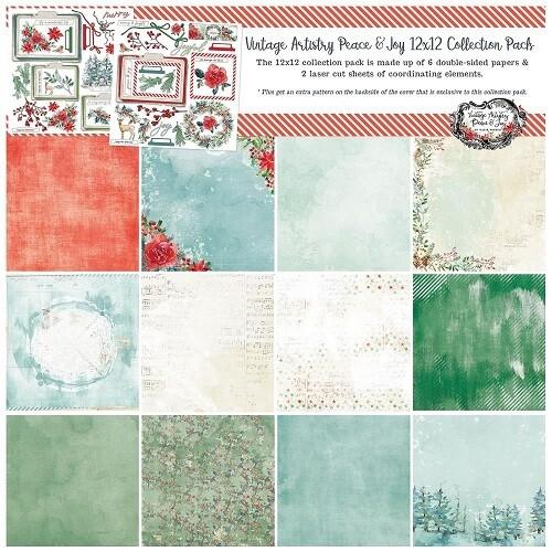 49 & Market - Vintage Artistry - Peace & Joy - 12 x 12 Paper Collection