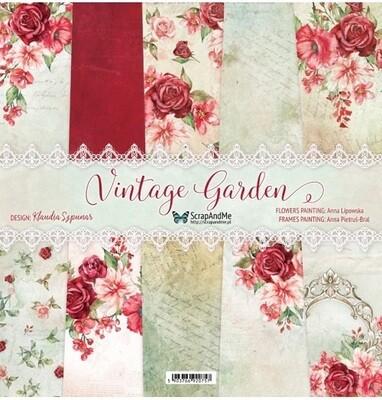 ScrapAndMe - Vintage Garden - 12 x 12 Paper Collection