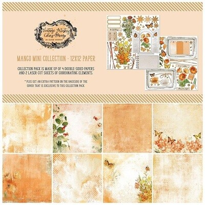 49 & Market - Vintage Artistry - Colours - In Mango - 12 x 12 Mini Paper Collection