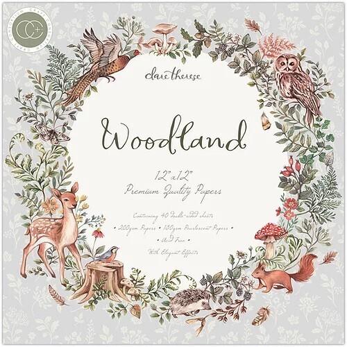 Craft Consortium - 12 x 12 Paper Pad - Woodland - PAD023