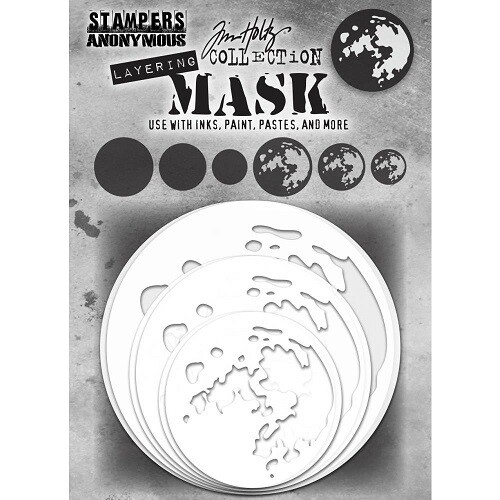 Tim Holtz - Stampers Anonymous- Layering Mask - Moon - 6pck - THSMK01