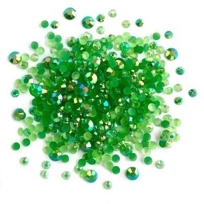 Buttons Galore & More - Jewelz - Emerald - 8gm - Jewelz 110