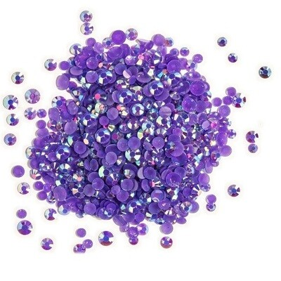 Buttons Galore & More - Jewelz - Amethyst - 8gm - Jewelz 117