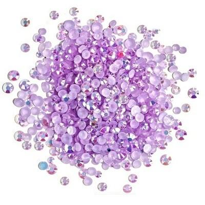 Buttons Galore & More - Jewelz - Light Amethyst - 8gm - Jewelz 116