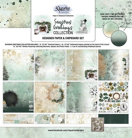 3 Quarter Designs - 12 x 12 Collections - Seasons Greetings