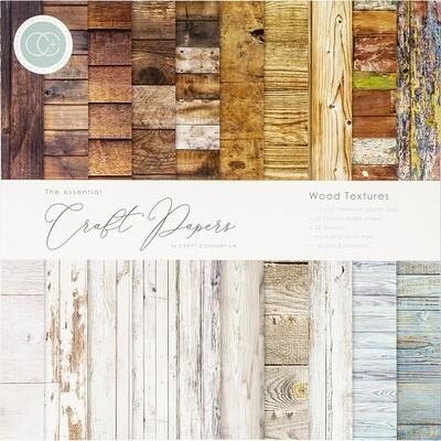 Craft Consortium - 12 x 12 Paper Pad - Wood Textures - CCPAD001