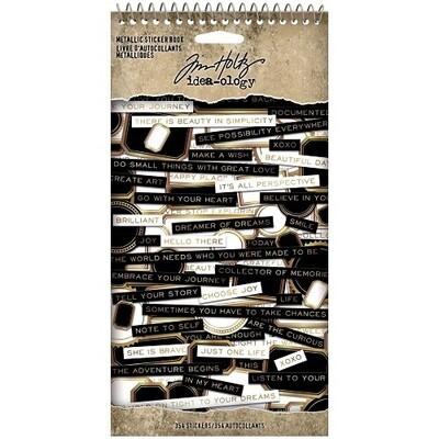 Tim Holtz - idea-ology - Metallic Sticker Book - TH94134