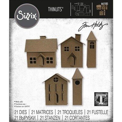 Sizzix -  Village #2 - Thinlits Die by Tim Holtz- 21 pieces - 665585