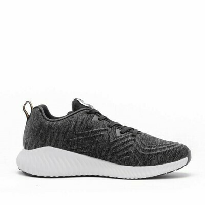 PEAK Running Shoes (Black Melange Grey)