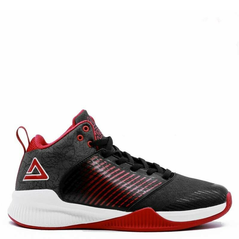 Rising Star Burner Men's Basketball Shoes (Black Red)