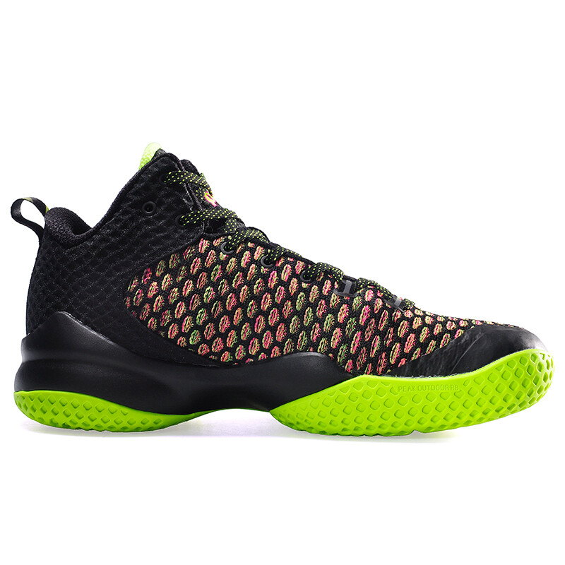 Street Ball Master Lou Williams Basketball Shoes (Black Fluorescent Yellow)
