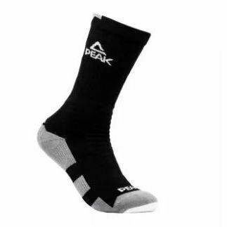 Peak High Cut Basketball Sock (Blk/ Dk Grey)