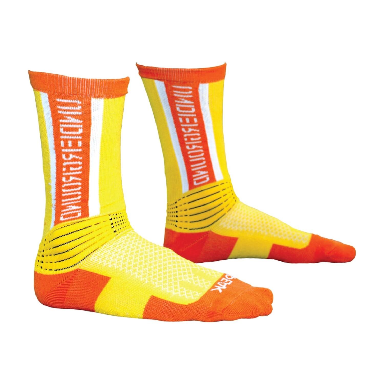 Peak High Cut Basketball Sock (Yellow Orange)