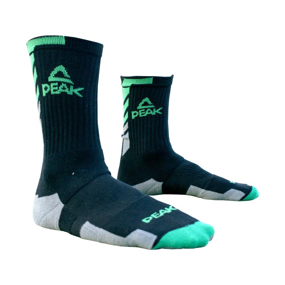 Peak High Cut Basketball Sock (Black/ Dk Grey)