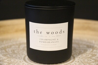 The Woods Candle Co - Champagne & Pomegranate