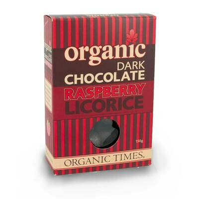 Organic Dark Chocolate Raspberry Licorice