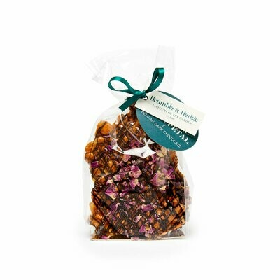 Salted Caramel, Rose Petal & Dark Belgian Chocolate Peanut Brittle