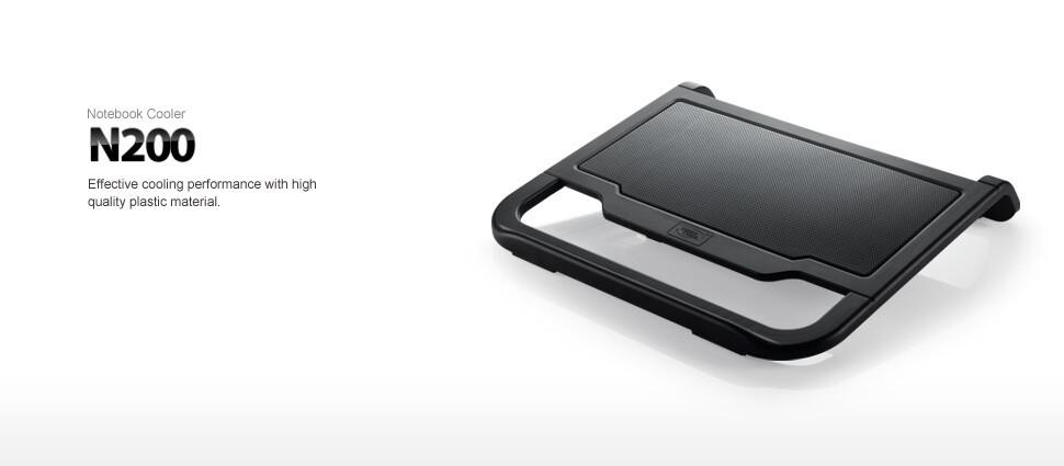 """Deepcool Notebook Cooler N200, 15""""6 Metal mesth+Plastic 120mm Antti-Slip (DP-N11N-N200"""