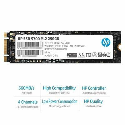 HP SSD S700 M.2 250GB SATA III 3D TL