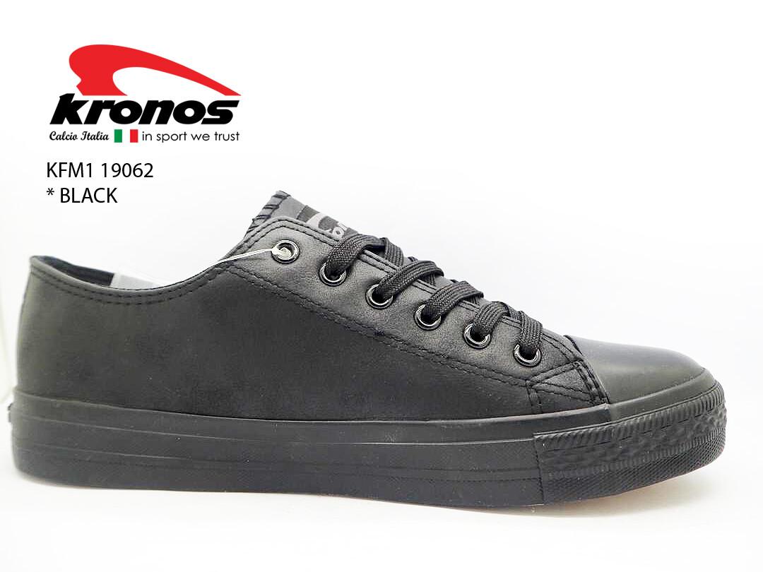Kronos Black School Shoe
