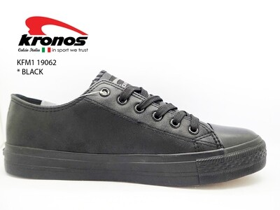 Kronos Black School Shoe
