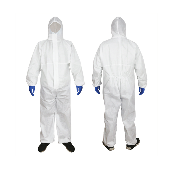 JUMPSUIT PROTECTIV COVERALL WITH HOOD Polypropylene NW Material