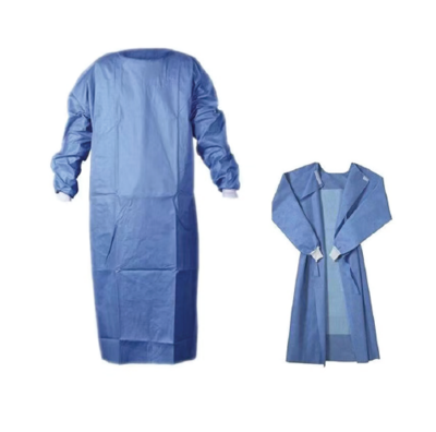 DISPOSABLE FLUID RESISTANT ISOLATION GOWN  WITH CUFF, 42g NON WOVEN