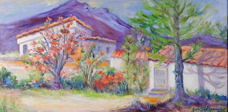 """Lakeside Life"" Oil Painting, by Jan Sullivan"