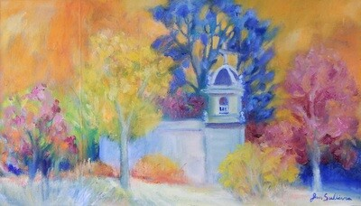 """""""Church in the Trees"""" Oil Painting, by Jan Sullivan"""