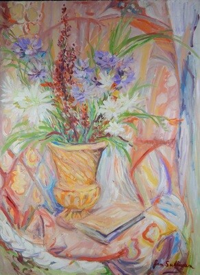 """Golden Vase"" Oil Painting, by Jan Sullivan"