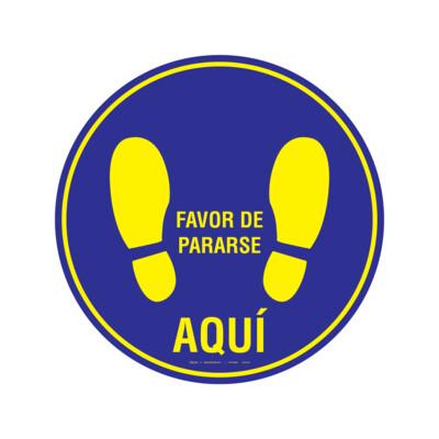 GRÁFICOS DE PISO - FAVOR DE PARARSE AQUÍ (FLOOR GRAPHICS) USO IDEAL PARA ELEVADORES