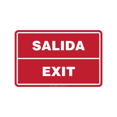 Rótulo - SALIDA/EXIT (BILINGÜE)