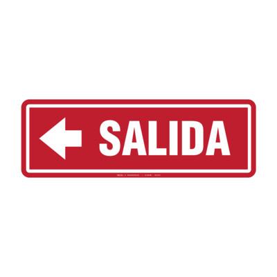 Rótulo - SALIDA (CON FLECHA)