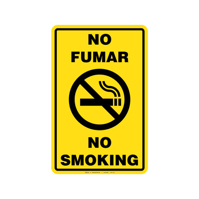 Rótulo - NO FUMAR/NO SMOKING (BILINGÜE)